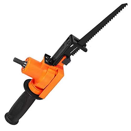 Eléctrica sierra de vaivén eléctrica motosierra alternativa Taladro para Madera Metal Herramienta rebanar Orange herramientas de corte