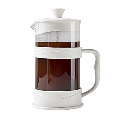 French Press Coffee and Tea Maker, 34 Ounce, White
