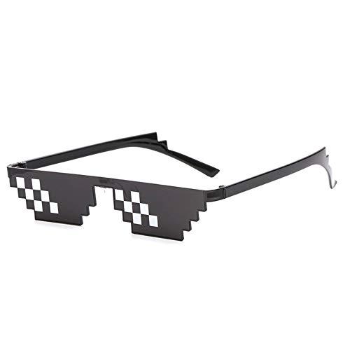 B-KIDS Thug Life Glasses 8-Bit Sunglasses for Men and Women Meme Costume