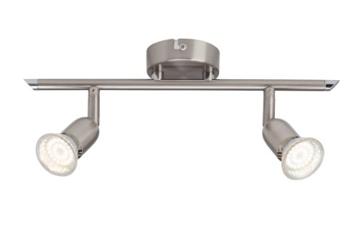 Brilliant G28813/13 Plafonnier Barre Acier 2 x GU10 2,5 W LED Métal Argent