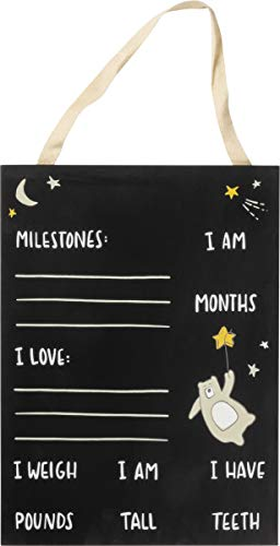 """Primitives by Kathy Non-Toxic Painted Wood Chalkboard Sign, 9.5"""" x 13"""", Bear"""