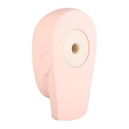Cabeza de maniquí 3D realista, entrenamiento de cabeza de maniquí de silicona suave, práctica de microhojas, tatuaje, masaje, pintura facial, extensión de pestañas, maquillaje de párpado doble, c
