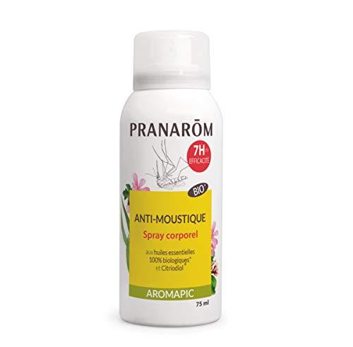 Pranarôm   Aromapic   Spray Corps Anti-Moustique Bio (Eco)   Efficacité 7 Heures   Huiles Essentielles biologiques   75 ml