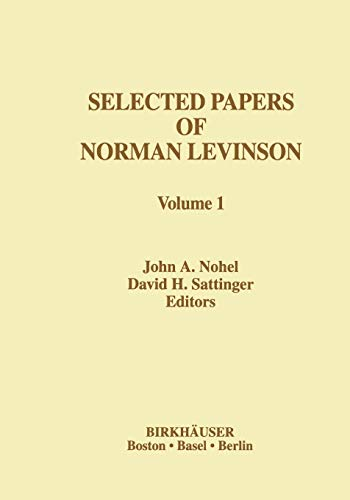 Selected Papers of Norman Levinson (Contemporary Mathematicians)