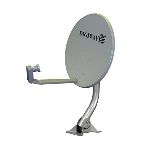 Homevision Technology Satellite Dish Digiwave 24 Inch Offset Satellite Dish, Gray (DWD60T)