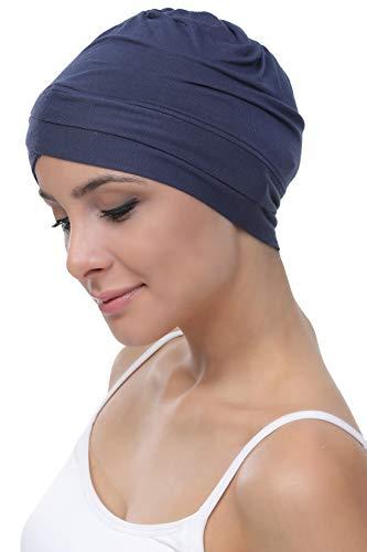Deresina W Baumwollmütze für Chemo (Denim)
