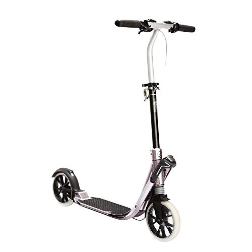 Hou Hexin Trade Scooter Plegable Scooter para Adultos y Adolescentes Scooter al Aire Libre liviano para Adultos y niños (Color : Pink)
