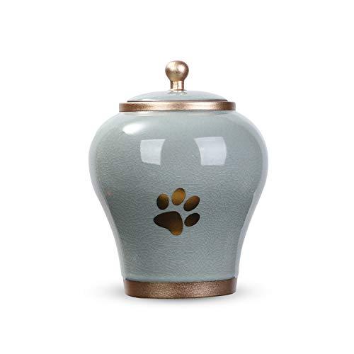 Youdear Memorials Urna de cremación Handicrafts para mascotas, 16 cm, alta calidad, para perros y gatos, tamaño adecuado para cenizas de hasta 900 cm3