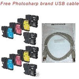 10個パック互換印刷インクカートリッジBrother lc6l交換用( 4ブラックlc-6lbk、2シアンlc-6lc、2マゼンタlc-6lc、2イエローlc-6ly ) Designed forBrother dcp-165C / 375c...