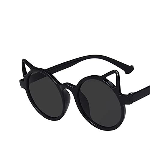 KTZAJO Gafas de sol para niños con diseño de ojo de gato para niños, lentes UV400, gafas de sol para bebé, gafas lindas para conductor, gafas (nombre del color: negro)