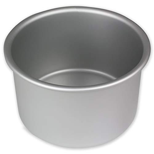 PME RND063 Anodised Aluminium Round Cake Pan 6 x 3-Inch Deep, Silver