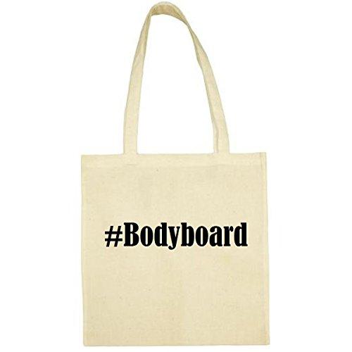 Tasche #Bodyboard Größe 38x42 Farbe Natur Druck Schwarz