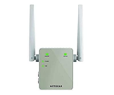 NETGEAR WiFi Booster Range Extender - Covers up to 1200 sq ft and 20 devices with AC1200 Dual Band Wireless Signal Repeater (up to 1200 Mbps) and Compact Wall Plug Design with UK Plug (EX6120)