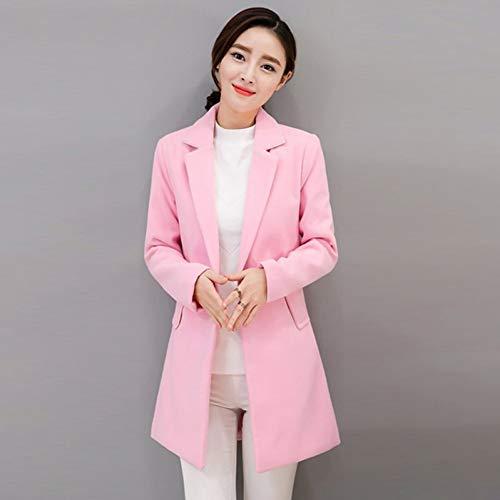 SHANGYI dames winter lange mantel dames kantoor feesten roze mantel jas jas jas