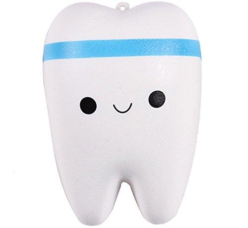 Anboor Squishies Zahn Langsam Steigend Squeeze Spielzeug Antistress Squishies Slow Rising Spielzeug Kawaii für Kinder Erwachsene (Farben zufällig, 1 Stück)