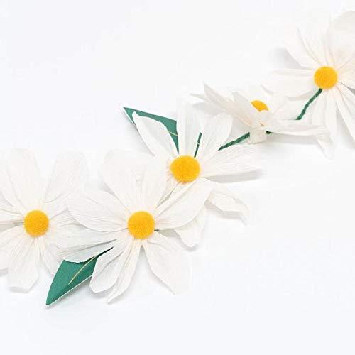 Meri Meri Wild Daisy Spring Easter Garland 4ft | Easter Home Decoration | Easter Garland | Pretty Daisy Garland for Weddings Christenings Garden Parties