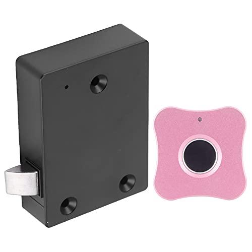 Hatirea Cerradura de Armario biométrica, cerraduras de Puerta de Armario Cerradura eléctrica de privacidad para Muebles(Flower-Shaped Aluminum Alloy Panel Pink)