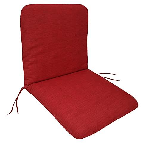 Auflage Sesselauflage Tacoma für Gartenstuhl Niederlehner 45x88cm, rot unifarben