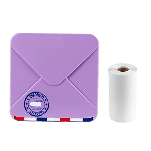 Jorzer Mini Impresora M02s Impresora De Fotos Termales Portátiles Con 3 Tamaños De Papel Para Tableta Púrpura, Filamento De Impresora 3d