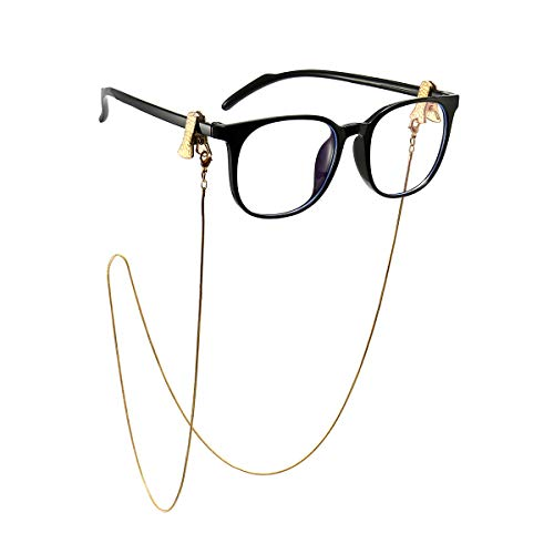 Mask chain for Women With Clip Chain Glasses Holder Around Neck for Women Metal Sunglasses Chain Gold