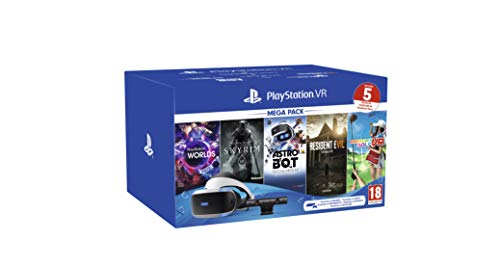 PS VR – Mega Pack V2 -PS VR headset + PS Camera +5 Giochi- Bundle