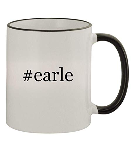 #earle - 11oz Colored Handle and Rim Coffee Mug, Black
