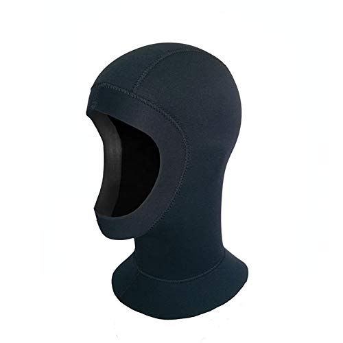 LAIABOR Neoprenhaube Tauchhaube 5mm schwarz Unisex Erwachsene Kopfhaub Schnorcheln Tauchkopfhauben für Outdoor und Tauchen,XXL