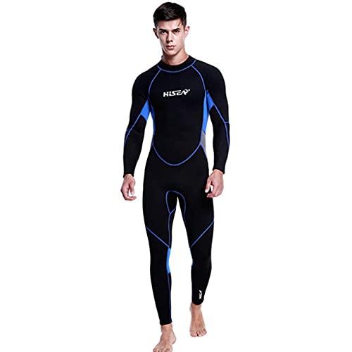 TBNOONE Hombres/Mujer 3mm Neopreno Traje de Neopreno, Surf de Cuerpo Completo Traje de baño Traje de Buceo Cuerpo Completo Traje de Buceo Individualidad Surf para Deportes acuáticos(XL, Man)