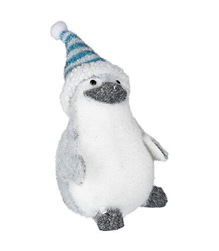 AC-Déco Bébé Pingouin 14 cm - Peluche structurée -Décoration de Noël