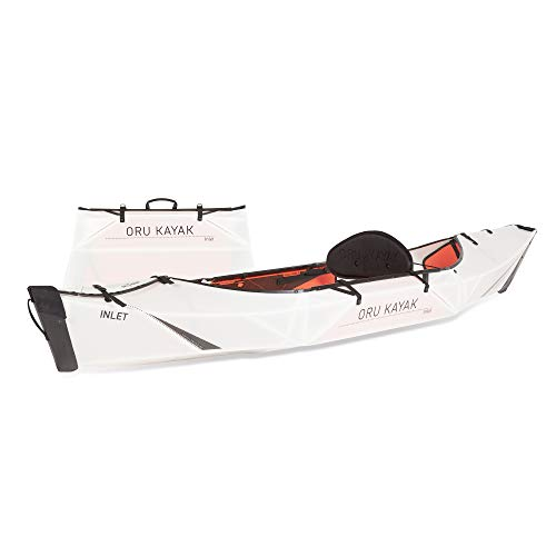 Oru Kayak Foldable Kayak - Stable, Durable, Lightweight Folding Kayaks for Adults and Youth - Lake, River, and Ocean Kayaks - Perfect Outdoor Fun Boat for Fishing, Travel, and Adventure (Inlet)