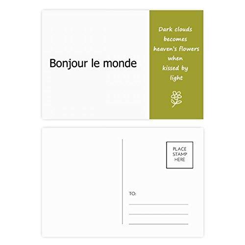 Hello World Postkarten-Set, französische Poesie, 20 Stück