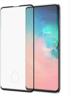 Glass screen Protector 3D From Vmax For Samsung Galaxy S10 Plus, Black Edges