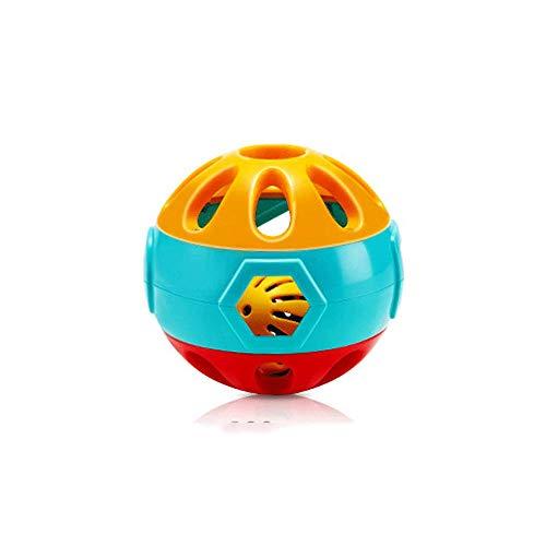 Juguetes de pelota para atrapar la mano del bebé, pelota rodante de campana, juguetes interactivos para padres e hijos, juegos sensoriales para bebés, uso de bebés y niños pequeños de 0-3 años, pelota