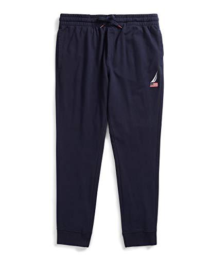 Nautica Men's American Flag Logo Joggers Pantaloni Casual, Marina Militare, L Uomo