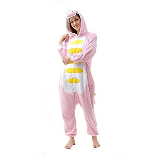 Afoxsos Women's Pink Dinosaur Onesie Adult Pajamas...
