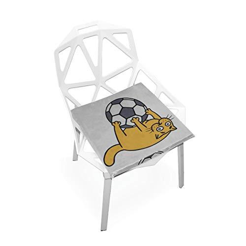 Enhusk Nette Cag Play Soccer Benutzerdefinierte Weiche rutschfeste Platz Memory Foam Stuhlkissen Kissen Sitz Für Home Küche Esszimmer Büro Schreibtisch Möbel Innen 16x16 Zoll