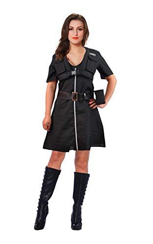 Andrea Moden 703-40/42 - Kostüm SWAT Girl, mit drei Taschen und Gürtel, Reißverschluss, Größe 40/42, Polizei, FBI, Motto Party, Karneval