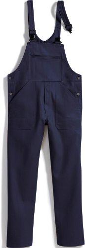 BP 1413-060-10-28 Latzhose, Stoff-Hosenträger mit Gummieinlage, 300,00 g/m² Reine Baumwolle, dunkelblau, 28