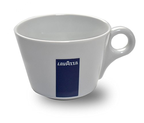 Lavazza Blu Collection Cappuccino Tasse, 6er Pack, Kaffeetasse, Porzellan, Weiß, 165ml, 20002131
