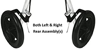 Medline Rear Wheel Assembly(s) - 8 in. Rear, fits Model MDS86800XW Rollator (Pair; Left and Right))