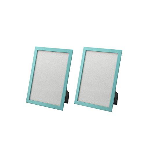 IKEA Fiskbo Rahmen 12,7 x 17,8 cm, eine Vielzahl von Farben zur Auswahl (Set mit 2 Rahmen) (hellblau).