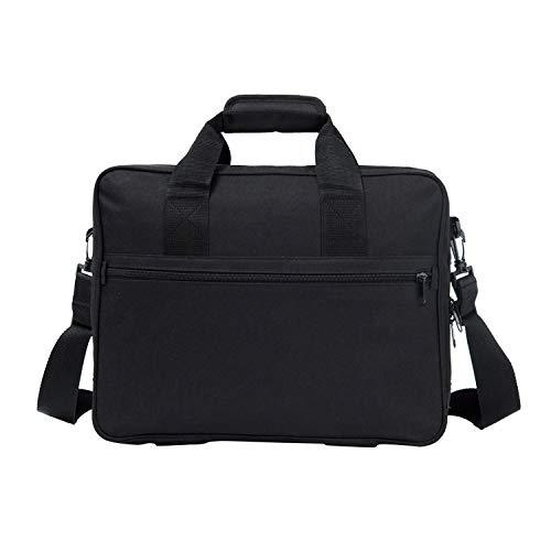 15.6 Inch-17 Inch Laptop Bag Tablet-Case Business Briefcase Single Shoulder-Bag Double-Layer Large Capacity Space Black