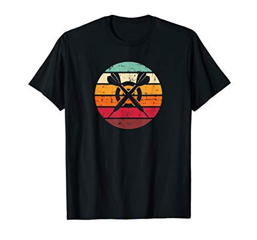 Retro Dart Vintage Dartspieler Geschenk 180 Sprüche Dart T-Shirt