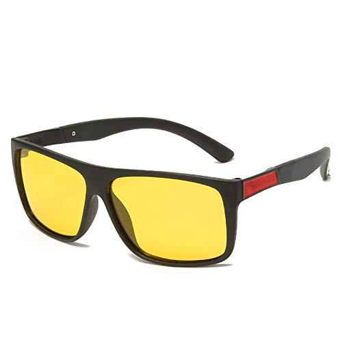 FJCY Gafas de Sol polarizadas cuadradas retráctiles de conducción de Goma cuadradas Gafas de Sol Hombres Gafas de Sol polarizadas señoras hombres-Kmj806-C2