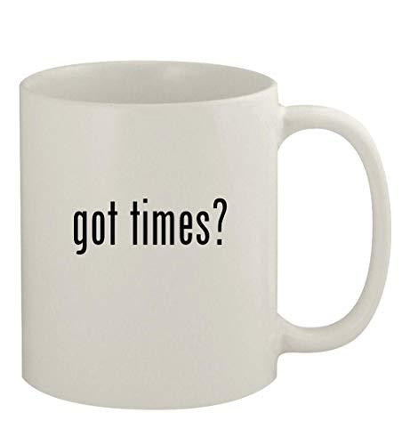 got times? - 11oz Ceramic White Coffee Mug, White