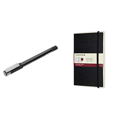 Moleskine Pen+ Ellipse Penna + Notebook Paper Tablet, Taccuino Digitale con Pagine a Righe, Colore Nero, Large (13 x 21 cm)
