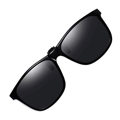 Polarized Clip on Sunglasses UV Protection Anti Glare Driving Glasses Flip Up clip-on Sunglasses for Prescription Glasses (3019)