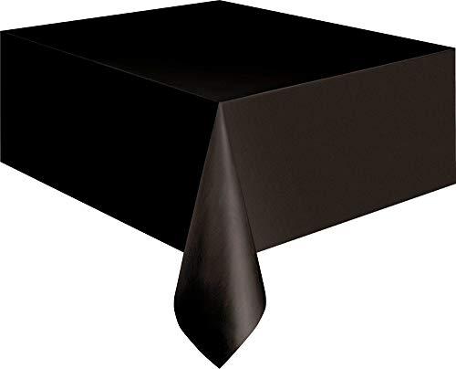 Kunststoff-Tischdecke - 2,74 m x 1,37 m - Schwarz
