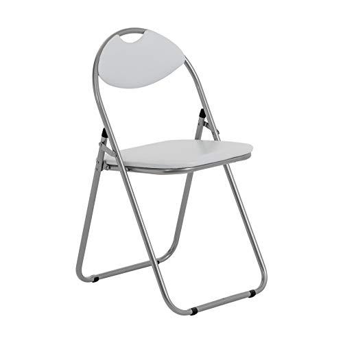 Chaise pliante rembourrée - pour le bureau - blanc