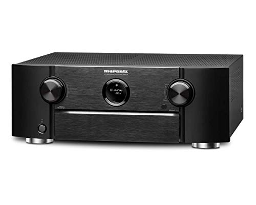 Marantz SR6013 - Receptor AV de Red (9.2 Canales, Full 4K, Ultra HD, con HEOS y Amazon Alexa), Color Negro